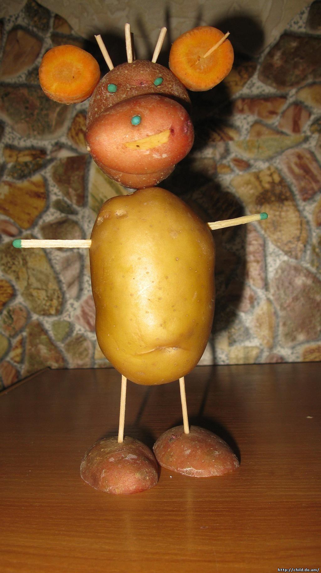 Поделки из овощей и картошки 21