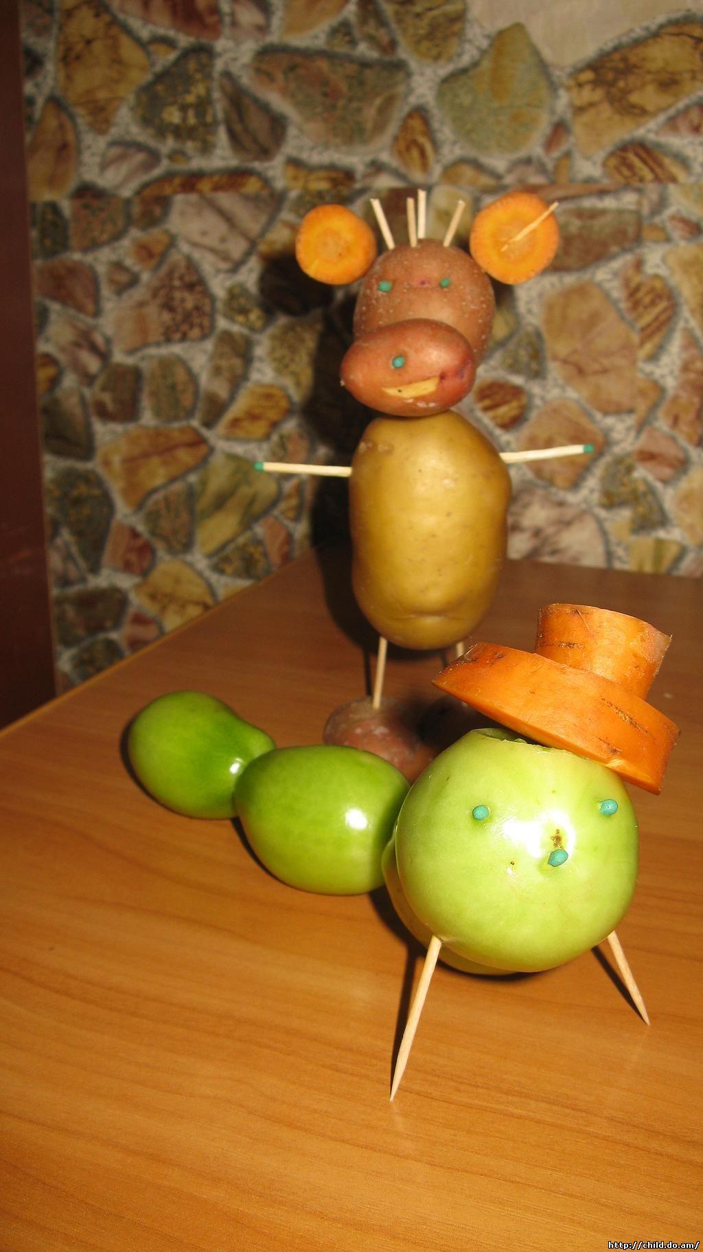 Поделки овощей в школу